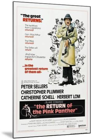 The Return of the Pink Panther, US poster, Peter Sellers, 1975--Mounted Art Print