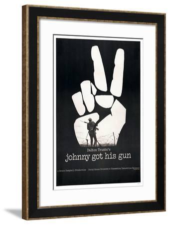 JOHNNY GOT HIS GUN, US poster, 1971--Framed Art Print