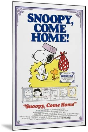 Snoopy, Come Home!--Mounted Art Print