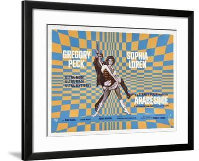 Arabesque, Gregory Peck, Sophia Loren, 1966--Framed Art Print