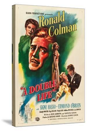 A Double Life, Signe Hasso, Ronald Colman, Shelley Winters, 1947--Stretched Canvas Print
