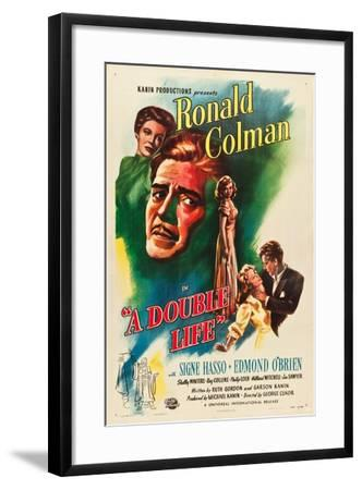 A Double Life, Signe Hasso, Ronald Colman, Shelley Winters, 1947--Framed Art Print