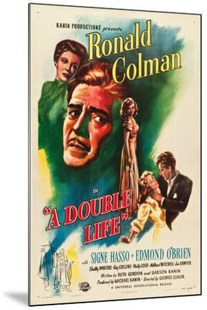 A Double Life, Signe Hasso, Ronald Colman, Shelley Winters, 1947--Mounted Art Print