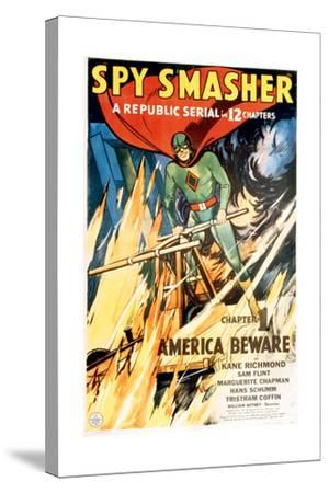SPY SMASHER, Kane Richmond in 'Chapter 1: America Beware', 1942--Stretched Canvas Print
