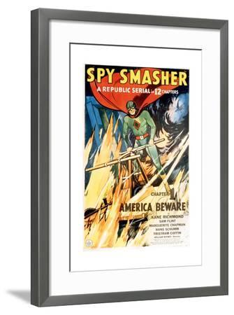 SPY SMASHER, Kane Richmond in 'Chapter 1: America Beware', 1942--Framed Art Print