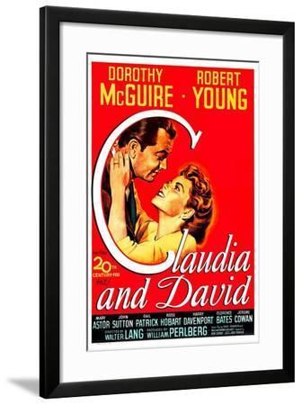 Claudia And David--Framed Art Print