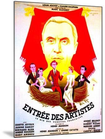 ENTREE DES ARTISTES, (aka THE CURTAIN RISES), French poster art, top: Louis Jouvet, 1938--Mounted Art Print