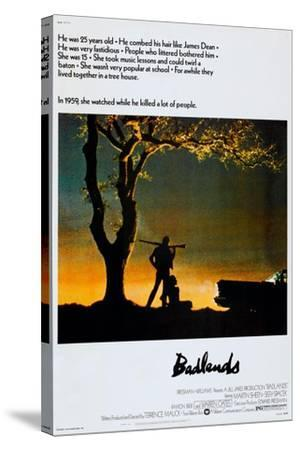 BADLANDS, US poster, Martin Sheen, Sissy Spacek, 1973--Stretched Canvas Print