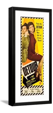 Detour, Tom Neal, Ann Savage, 1945--Framed Art Print