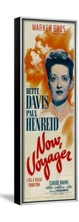 NOW, VOYAGER, top from left: Bette Davis, Paul Henreid, bottom: Bette Davis, 1942--Framed Stretched Canvas Print