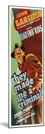 THEY MADE ME A CRIMINAL, John Garfield on insert poster, 1939.--Mounted Art Print