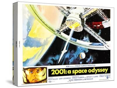 2001: A Space Odyssey, US lobbycard, Keir Dullea, 1968--Stretched Canvas Print