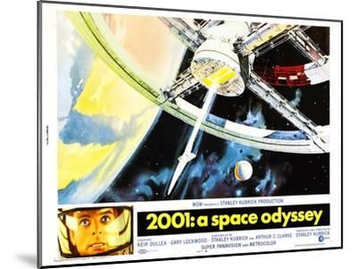 2001: A Space Odyssey, US lobbycard, Keir Dullea, 1968--Mounted Art Print