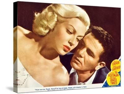 The Postman Always Rings Twice, Lana Turner, John Garfield, 1945--Stretched Canvas Print