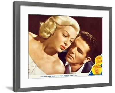 The Postman Always Rings Twice, Lana Turner, John Garfield, 1945--Framed Art Print