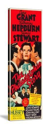 The Philadelphia Story, Cary Grant, Katharine Hepburn, James Stewart, 1940--Stretched Canvas Print