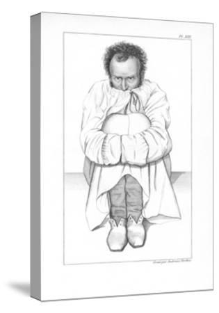 Psychiatric Patient, 19th Century-King's College-Stretched Canvas Print
