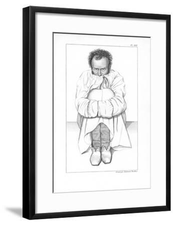 Psychiatric Patient, 19th Century-King's College-Framed Giclee Print