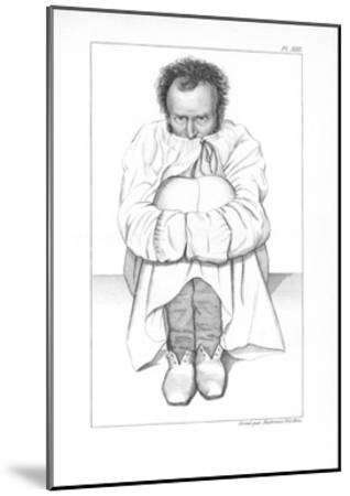 Psychiatric Patient, 19th Century-King's College-Mounted Giclee Print