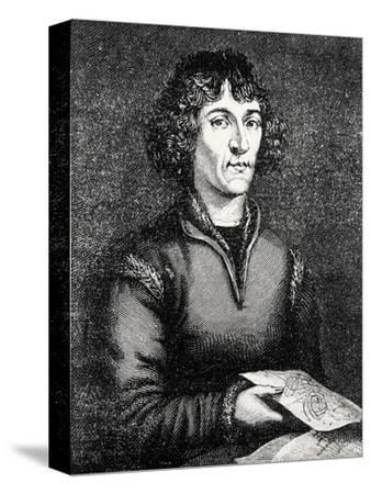Engraving of Nicolas Copernicus, Polish Astronomer-Jeremy Burgess-Stretched Canvas Print