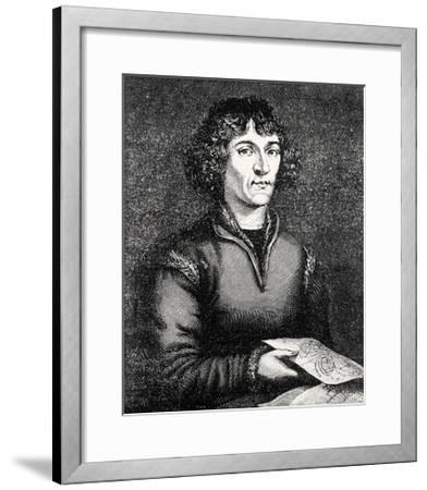 Engraving of Nicolas Copernicus, Polish Astronomer-Jeremy Burgess-Framed Giclee Print