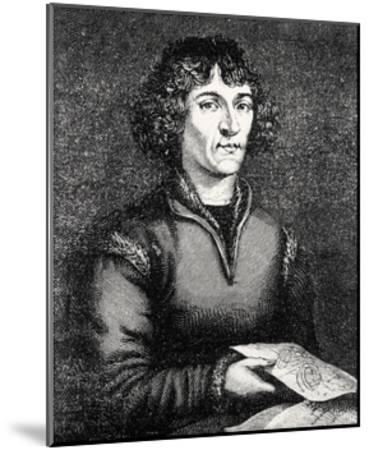 Engraving of Nicolas Copernicus, Polish Astronomer-Jeremy Burgess-Mounted Giclee Print
