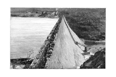 Mullaperiyar Dam, 19th Century-Science Photo Library-Framed Giclee Print