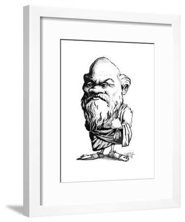 Socrates, Caricature-Gary Gastrolab-Framed Giclee Print