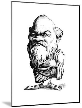 Socrates, Caricature-Gary Gastrolab-Mounted Giclee Print