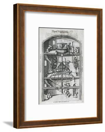 Flour Mill, 16th Century Artwork-Middle Temple Library-Framed Giclee Print