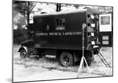 Mobile Acoustics Laboratory, 1940s-National Physical Laboratory-Mounted Giclee Print