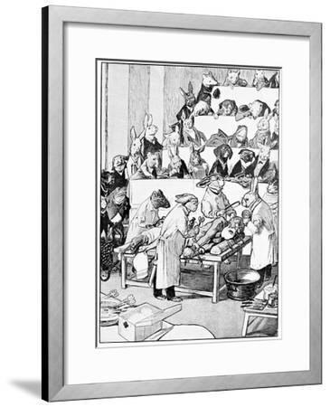 Medical Vivisection, Satirical Artwork-Science Photo Library-Framed Giclee Print