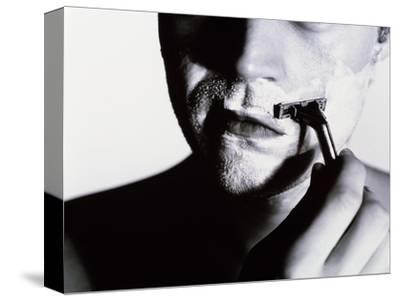 Man Shaving-Mauro Fermariello-Stretched Canvas Print