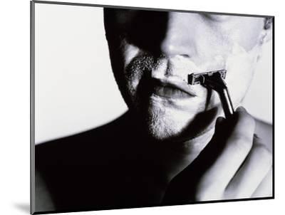 Man Shaving-Mauro Fermariello-Mounted Giclee Print