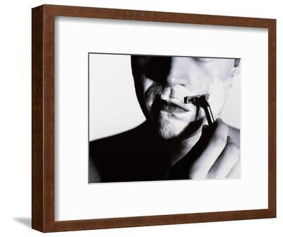 Man Shaving-Mauro Fermariello-Framed Giclee Print