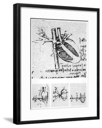 Heart Anatomy, 16th Century-Science Photo Library-Framed Giclee Print