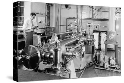 Caesium Atomic Clock-National Physical Laboratory-Stretched Canvas Print