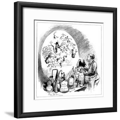 Microbiology Caricature, 19th Century-Science Photo Library-Framed Giclee Print