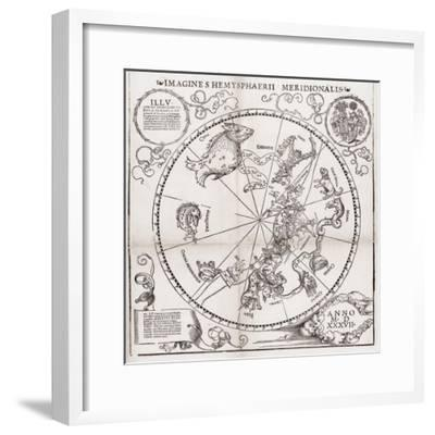 Southern Hemisphere Star Chart, 1537-Middle Temple Library-Framed Giclee Print