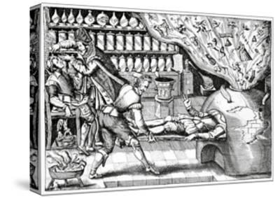 Medical Purging, Satirical Artwork-Science Photo Library-Stretched Canvas Print
