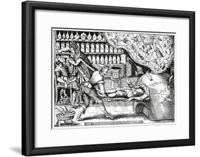 Medical Purging, Satirical Artwork-Science Photo Library-Framed Giclee Print