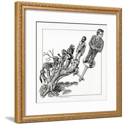 Human Evolution, Conceptual Artwork-Bill Sanderson-Framed Giclee Print