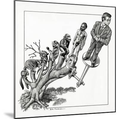 Human Evolution, Conceptual Artwork-Bill Sanderson-Mounted Giclee Print