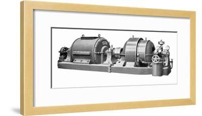 Rateau Steam Turbine And Generator-Mark Sykes-Framed Giclee Print