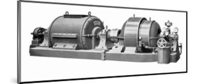 Rateau Steam Turbine And Generator-Mark Sykes-Mounted Giclee Print