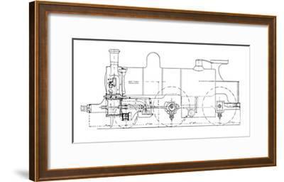 Three-cylinder Compound Steam Locomotive-Mark Sykes-Framed Giclee Print