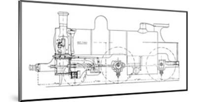 Three-cylinder Compound Steam Locomotive-Mark Sykes-Mounted Giclee Print