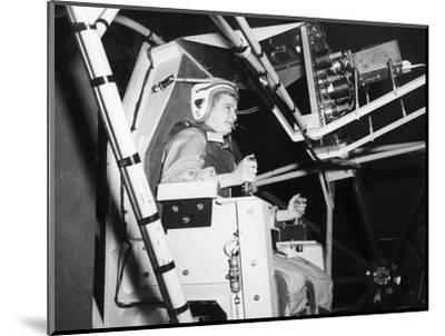 Female Astronaut Training--Mounted Giclee Print