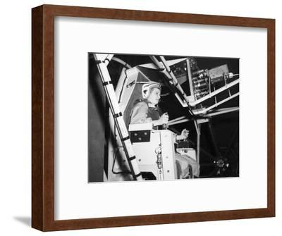 Female Astronaut Training--Framed Giclee Print