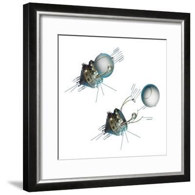 Vostok 1 Capsule Separation, Artwork-Detlev Van Ravenswaay-Framed Giclee Print